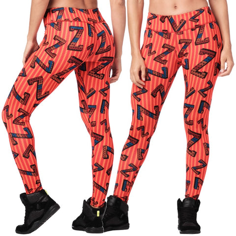 Zumba Dance Tribe Perfect Ankle Leggings (size L, XL)