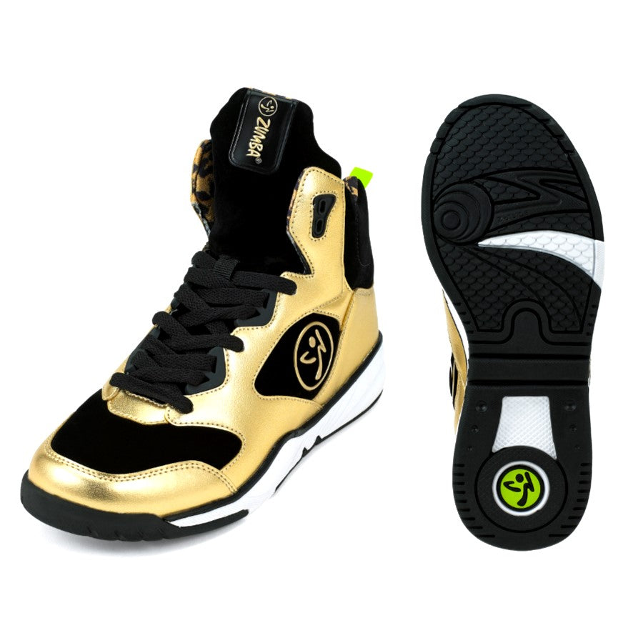Zumba Energy Boom - Metallic Gold (sizes 6.5, 9, 9.5, 10, 11)