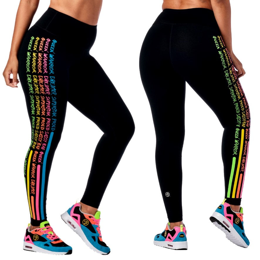 Zumba Everywhere High Waisted Leggings (Pre-Order)