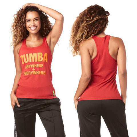 Zumba Everywhere Ribbed Tank (sizes M, L, XL)