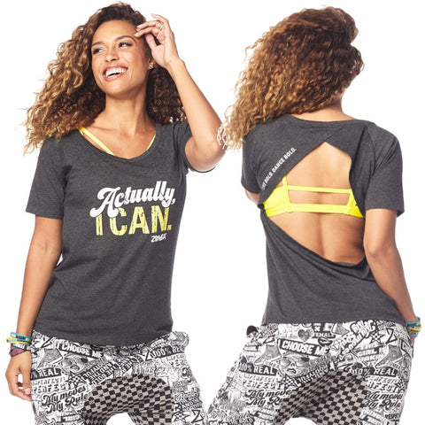 Zumba Fierce Female Open Back Top