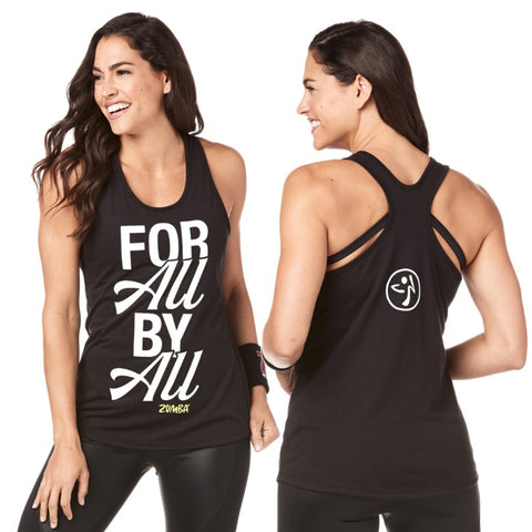 Zumba For All By All Loose Tank (size XS, S, M, XL)