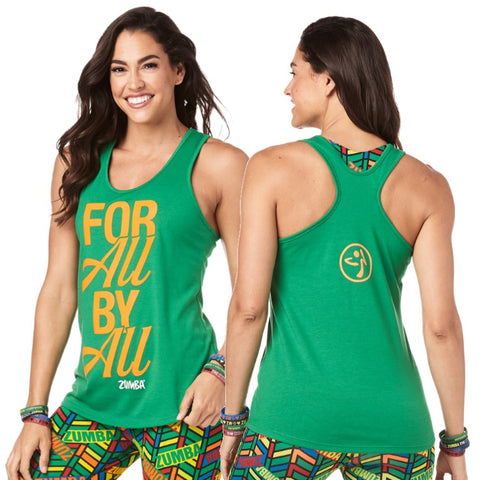 Zumba For All By All Loose Tank (sizes XL)