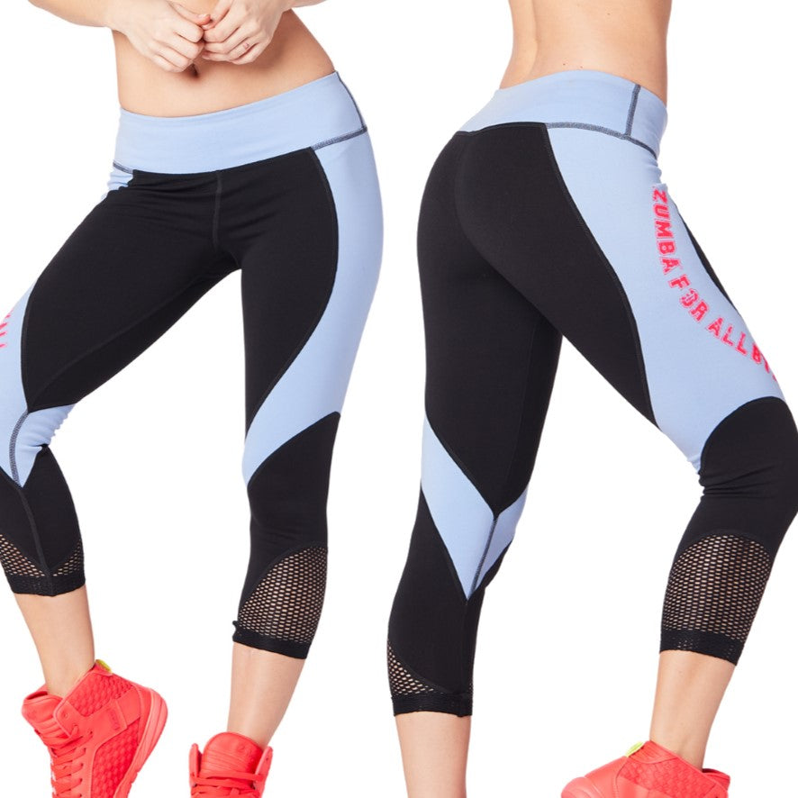 Zumba For All Crop Leggings (sizes M, L)