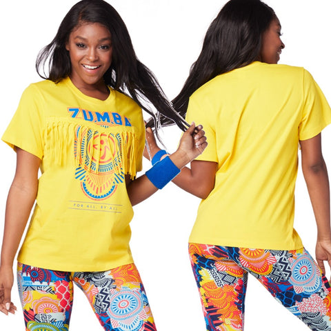 Zumba For All Fringe Top
