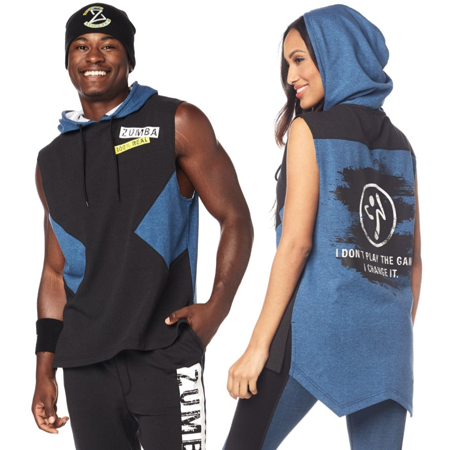 Zumba Game Changer Sleeveless Hoodie (size S - only 1 left)