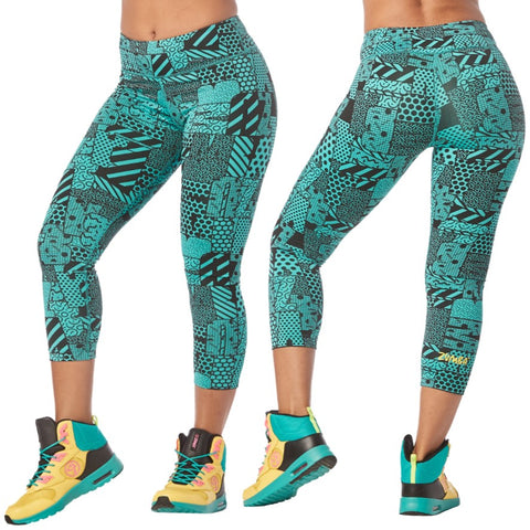 Zumba Happiness Crop Leggings (size L)