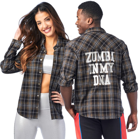 Zumba In My DNA Flannel (size L)