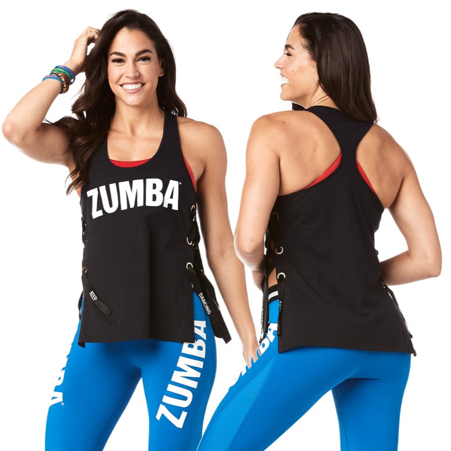 Zumba Keep Dancing Laced Up Tank
