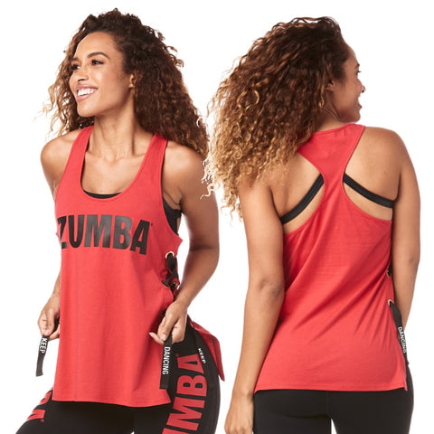 Zumba Keep Dancing Laced Up Tank (size XXL - only 1 left)