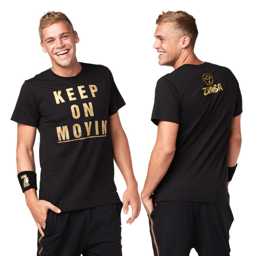 Zumba Keep Movin Tee (size XS/S only)