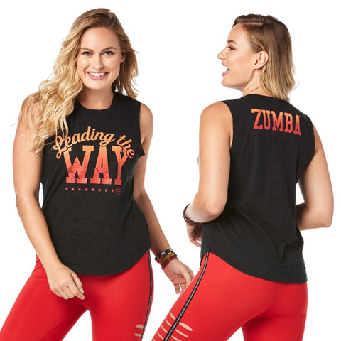 Zumba Leading The Way Muscle Tank (size XS, S, M)