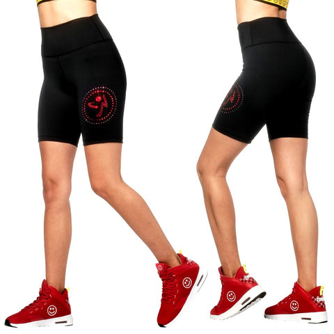 Zumba Love Biker Shorts With Swarovski Crystals (size S)