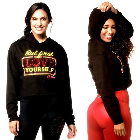 Zumba Love Crop Hoodie With Swarovski Crystals (size L)