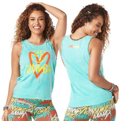 Zumba Love Over Likes Tank (sizes S, M, L)