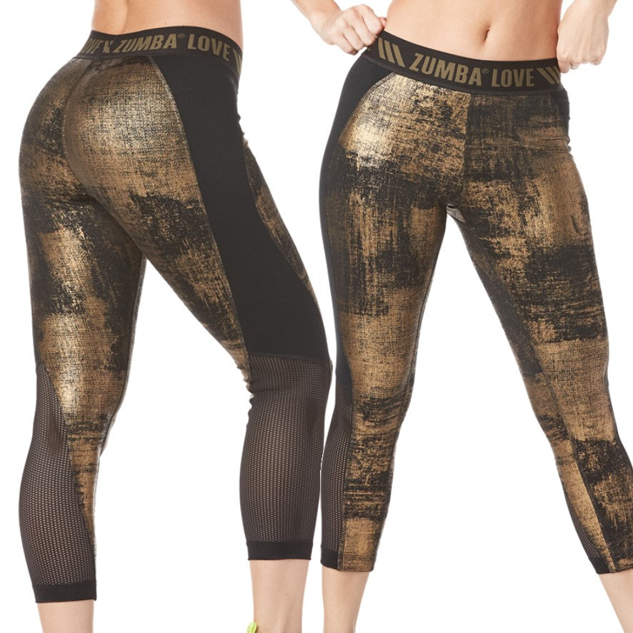 Zumba Love Panel Capri Leggings