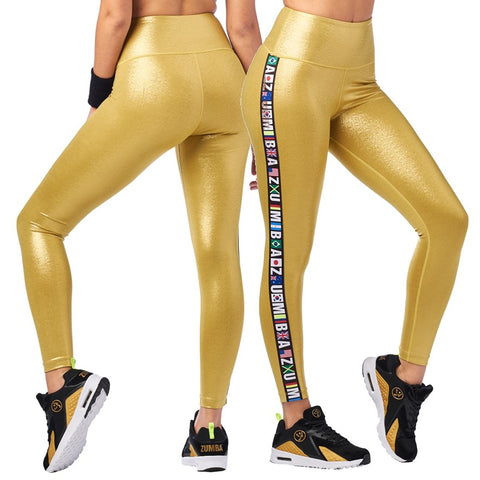 Zumba Metallic High Waisted Ankle Leggings (size XL - only 1 left)