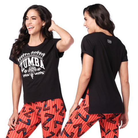 Zumba Mix It Up Hi Lo Top (size XS, S, L)