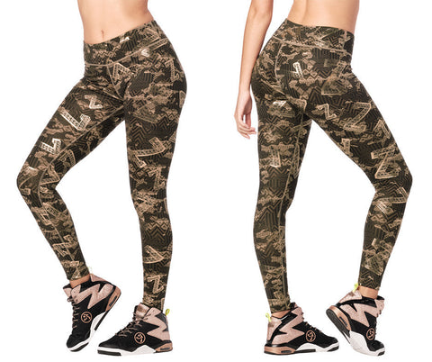 Zumba Mix It Up Perfect Ankle Leggings (size XS, XL)