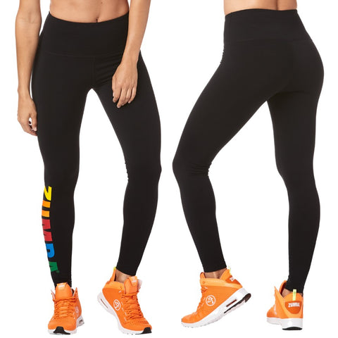 Zumba Next Level High Waist Ankle Leggings (sizes L, XL)