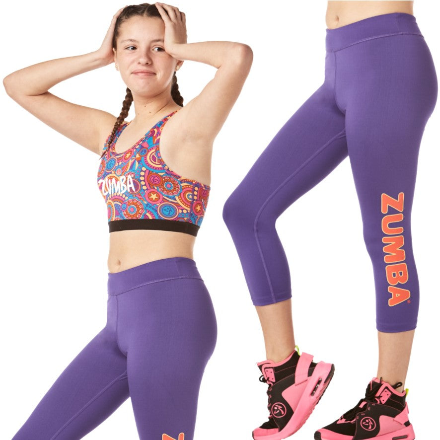 Zumba Junior Peace Capri Leggings