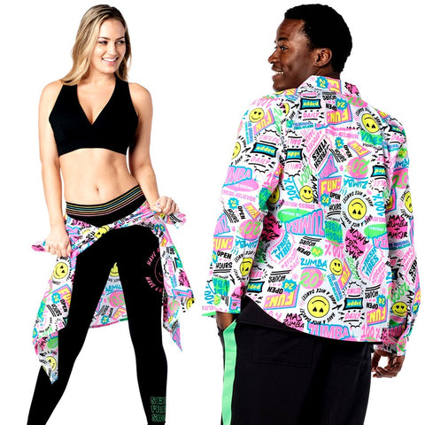 Zumba Pop Button Up (size M)