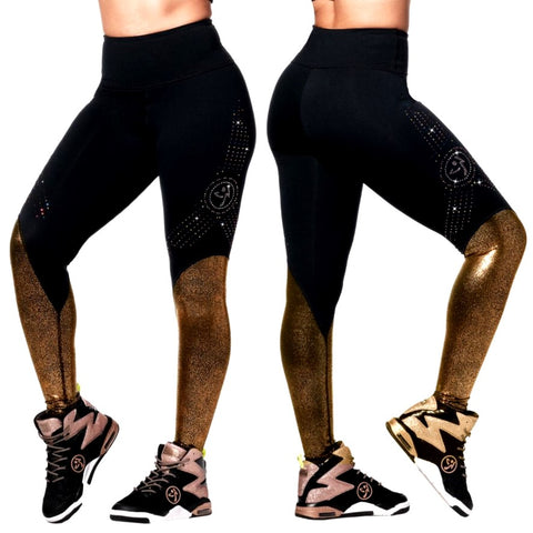 Zumba Shine Ankle Leggings With Swarovski Crystals (size L, XL, XXL)