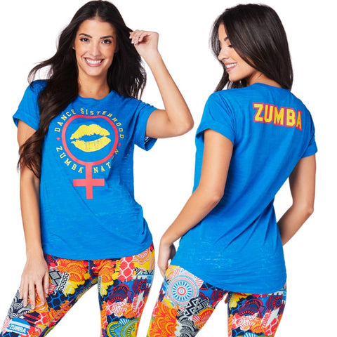 Zumba Sisterhood Crew Neck Top