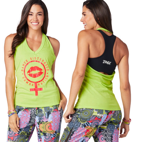 Zumba Sisterhood Halter Top (sizes S, M & L)