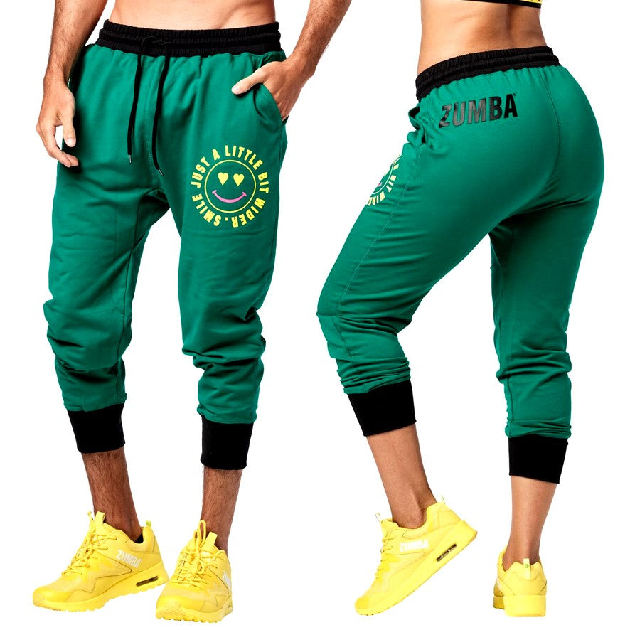 Zumba Smile Men's Capri Sweatpants (Pre-Order)