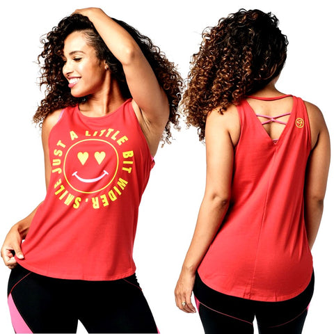 Zumba Smile Tank (size L - only 1 left)