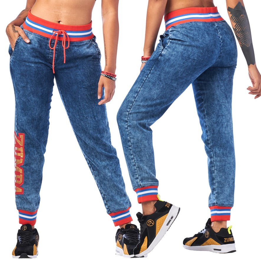Zumba Spirit Denim Sweatpants (sizes XS, M, L, XL)