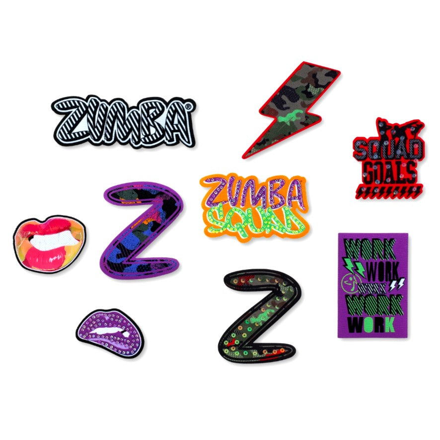 Zumba Squad Patches 9pk