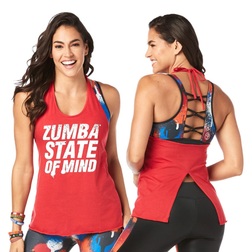 Zumba State Of Mind Halter Top (size L)