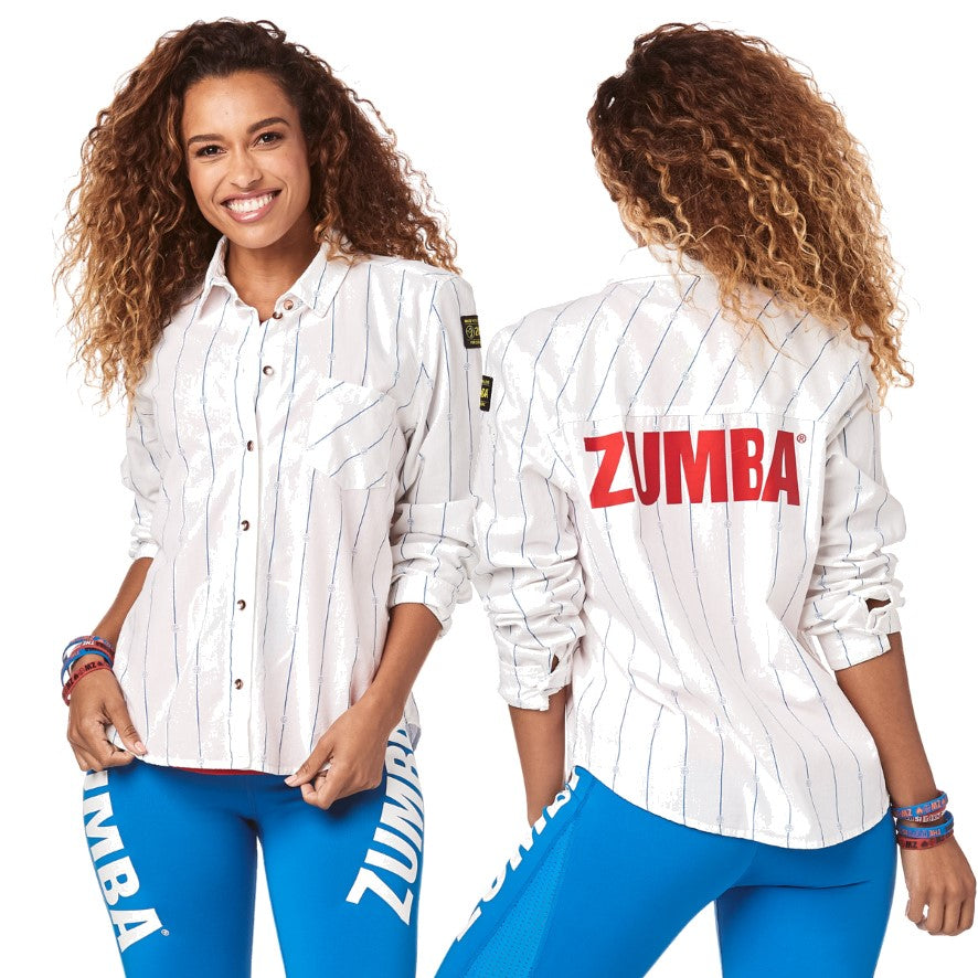 Zumba Varsity Button Up (size L, XL, XXL)