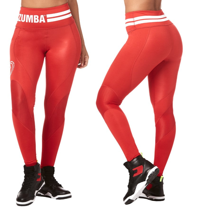 Zumba Varsity High Waist Ankle Leggings (size M, L, XL)