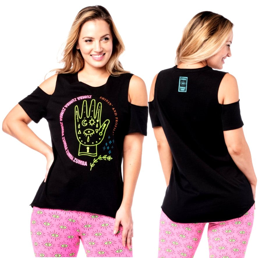 Zumba Vibes Cold Shoulder Top (Pre-Order)