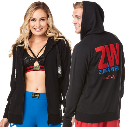 Zumba Wear For All Zip Up Hoodie (size XS - only 1 left)