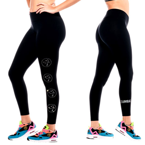 Zumbito Ankle Leggings With Swarovski Crystals (size S, M)