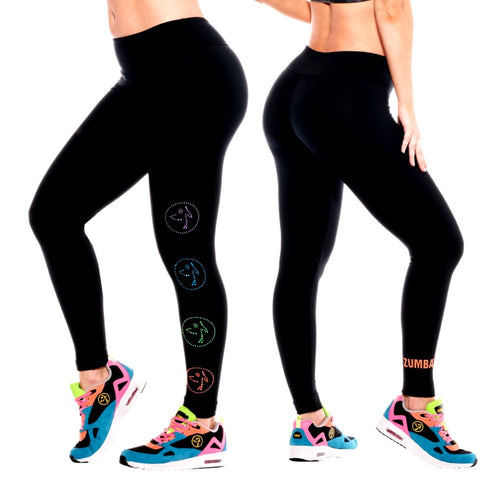 Zumbito Ankle Leggings With Swarovski Crystals (size M)