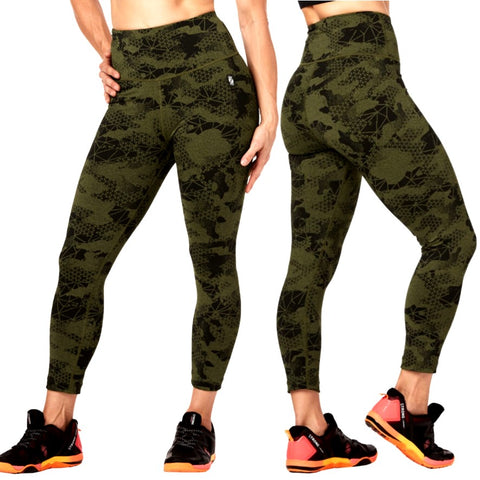 Camo Rep Crop Leggings (size XS, S, XL)