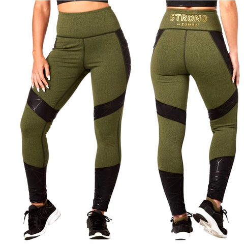 Squat And Burpees High Waisted Ankle Leggings (sizes M, L)