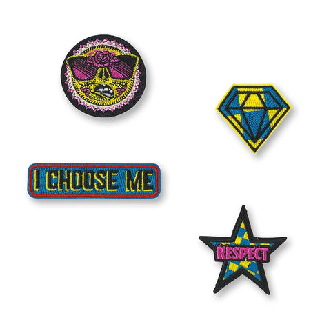 I Choose Me Patch Pins 4pk