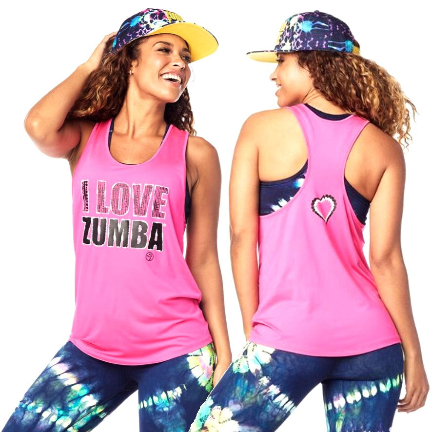 I Love Zumba Tank (size L - only 1 left)
