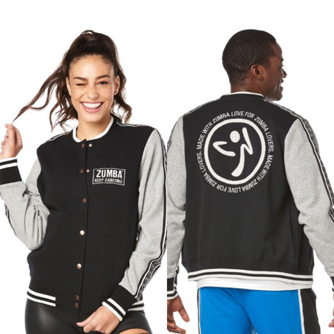 Zumba Keep Dancing Bomber Jacket (size L)