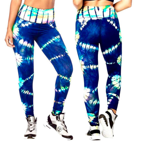 Tie Dye For Zumba High Waisted Long Leggings (size M)