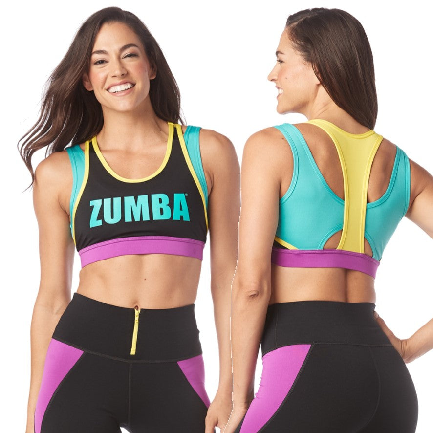 My Zumba Scoop Bra (sizes XS, M, L)