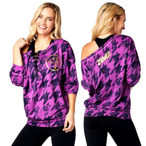 Rockin Zumba Lace Up Pullover (size S)