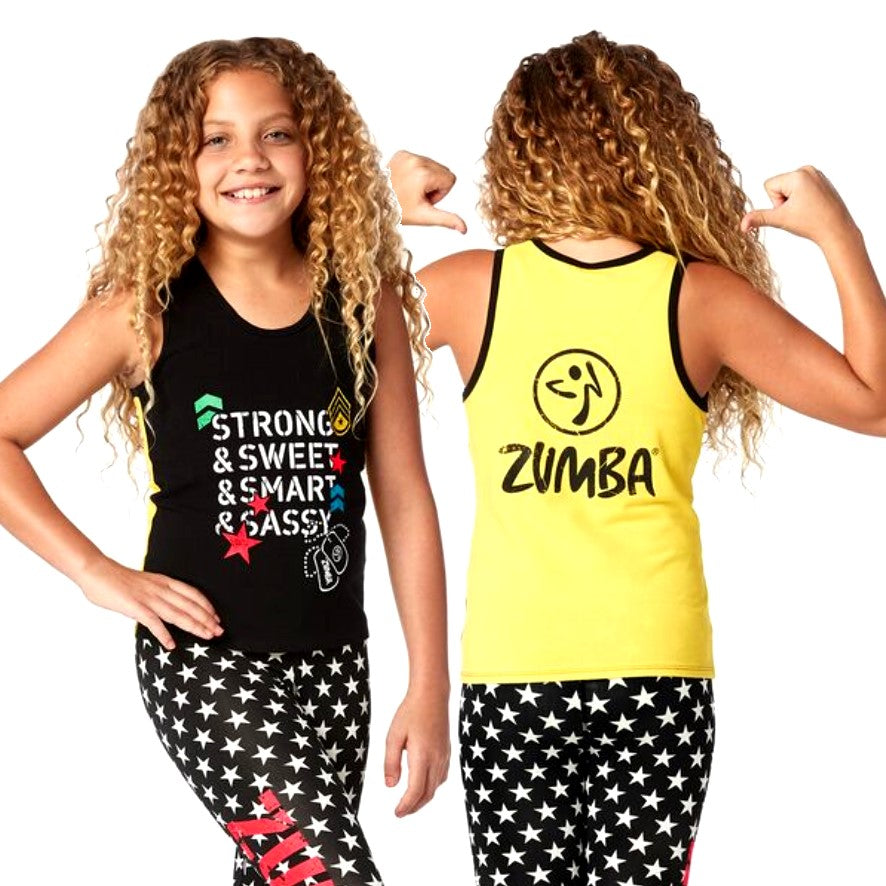 Zumba Junior Strong And Sweet Racerback