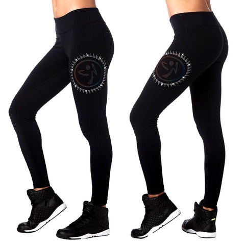 Zumba Ankle Leggings With Swarovski Crystals (size M, L)